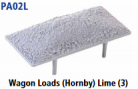 Parkside Models PA02(L) - Wagon Loads (Hornby) - Pack of Three Same Type:- Limestone