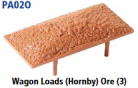 Parkside Models PA02(O) - Wagon Loads (Hornby) - Pack of Three Same Type:- Ore