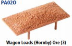 Parkside Models PA02(Ore) - Wagon Loads (Hornby) - Pack of Three Same Type:- Ore