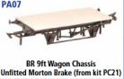 Parkside Models PA07 - BR 9ft. Unfitted Morton Brake (From Kit PC21) underframe kit