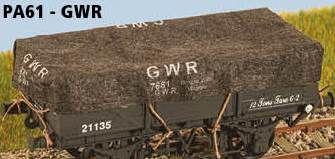Parkside Models 4mm Tarps - GWR (pack of 8)
