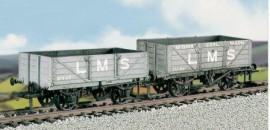 Parkside Models (Ex Ratio 576) - LMS Traffic Coal & 4 Plank Wagon (set of 2)