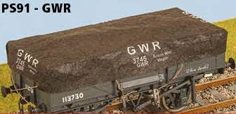 Parkside Models 7mm Tarps - GWR (pack of 3)