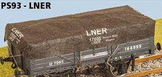 Parkside Models Tarps - LNER (pack of 3)