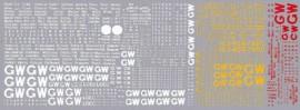 HMRS GWR Wagon Pressfix Transfers
