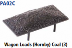 Parkside Models PA02(Coal) - Wagon Loads (Hornby) - Pack of Three Same Type:- Coal