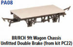 Parkside Models PA08 - BR/RCH 9ft. Unfitted Double Brake (From Kit PC22) underframe kit