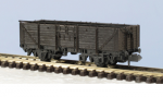 Peco N Gauge Wagon Kit KNR-10 - 15ft Wheelbase Open Wagon, Tarpaulin