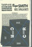 Roger Smith - 4mm Caledonian Railway Wagon Tarpaulin Sheets