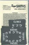 Roger Smith - 4mm Great Central Railway Wagon Tarpaulin Sheets