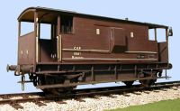 Slaters 7mm Wagon - LMS/BR 20 Ton Goods Brake Van complete with interior stove