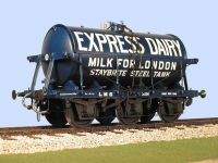 Slaters 7mm Wagon - LMS Six Wheeled 3000 Gallon Milk Tank Wagon