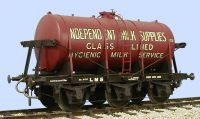 Slaters 70154IMS - 7mm Decal - LMS 3000 Gallon 6 Wheel Independent Milk Tank Wagon