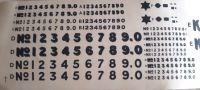 Slaters 70148 - 7mm Decal - Private Owner Numerals