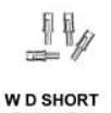 Markits - 4mm Handrail Knobs (W.D. Short) Pack 12