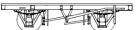 "Cambrian Models C91 - 17' 6"" ""One-piece"" Steel Underframe (10' wheelbase - 40mm)"