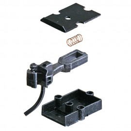 Kadee Type E Medium Centerset Metal Couplers with Metal Gearboxes - Black - O Scale