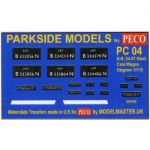 Decals for Parkside Models MMPC04 - BR 24.5T Steel Coal Wagon