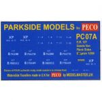 Decals for Parkside Models MMPC07A - BR 12 Ton  Ventilated Van Plank Sides Diag 1/208