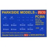 Decals for Parkside Models MMPC08A - BR 12 Ton Ventilated Van Plywood Sides Diag 1/213