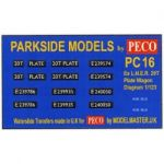 Decals for Parkside Models MMPC16 - BR ex LNER 20T Plate Wagon