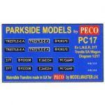 Decals for Parkside Models MMPC17 - BR ex LNER 21T Trestle Wagon