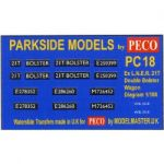 Decals for Parkside Models MMPC18 - BR ex LNER Double Bolster Wagon