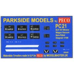 Decals for Parkside Models MMPC21 - BR 16T Mineral Wagon ( Dia 108 unfitted) Decals