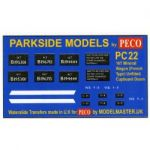 Decals for Parkside Models MMPC22 - BR 16T Mineral Wagon French Type