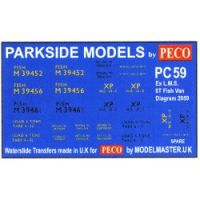 Decals for Parkside Models MMPC59 - BR ex LMS 6T Fish Van Dia 2059