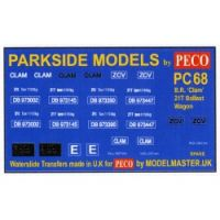 Decals for Parkside Models MMPC68 - BR 'Clam' 21T Ballast Wagon