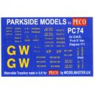 Decals for Parkside Models MMPC74 - Ex G.W.R. 'Fruit D' Van Dia Y11