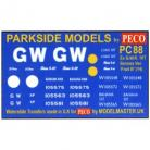 Decals for Parkside Models MMPC88 - Ex G.W.R. 10T Banana Van 'Fruit B' (Y4)