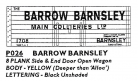 Modelmaster Private Owner 4mm Decals - Barrow Barnsley Collieries