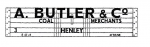 Modelmaster Private Owner 4mm Decals - A Butler & Co. Henly