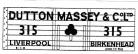 Modelmaster Private Owner 4mm Decals - Dutton Massey Liverpool