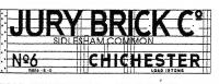 Modelmaster Private Owner 4mm Decals - Jury Brick Co, Chichester