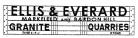 Modelmaster Private Owner 4mm Decals - Ellis & Everard Granite Quarries