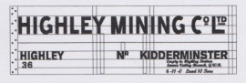 Modelmaster Private Owner 4mm Decals - Highley Mining Co Ltd.