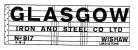 Modelmaster Private Owner 4mm Decals - Glasgow Iron & Steel Wishaw