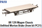 Parkside Models PA10 - BR 12ft. Unfitted Morton Brake (From Kit PC31) underframe kit
