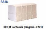 Parkside Models PA18 - BR FM Container (Diag. 201)