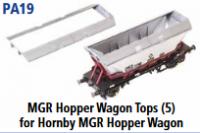 Parkside Models PA19 - MGR Hopper Wagon Top (for Hornby MGR Hopper Wagon) - (Pack of 5)
