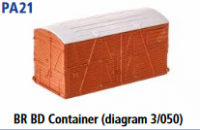 Parkside Models PA21 - Wagon Loads BR BD Container (Diag. 3/050)