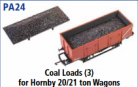 Parkside Models PA24 - Coal Loads for 20/21 Ton Wagons (Hornby etc.) (Pack of 3)