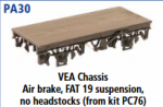 Parkside Models PA30 - VEA Chassis (From Kit PC76) underframe kits