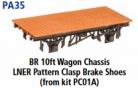 Parkside Models PA35 - BR 10ft. LNER Pattern Clasp Brake Shoes (From Kit PC01A) underframe kit
