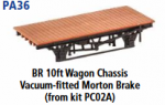 Parkside Models PA36 - BR 10ft. Vacuum Fitted Morton Brake (From Kit PC02A) underframe kit