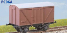 Parkside Models PC06A - LNER 12 Ton Plywood Goods Van BR Condition (Decals Included)
