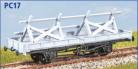 Parkside Models PC17 - LNER 21 Ton Trestle Wagon - Decals Included